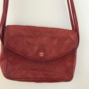 Authentic red Chanel bag